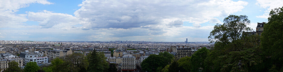View from Sacre Coeur to Paris, Montmartre, Paris, France