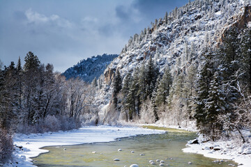 Winter on the Animas River in Colorado