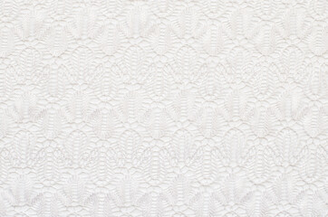 White knitted lace texture