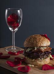 Valentines day burger