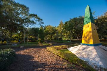 Obelisk in the brazilian triple border