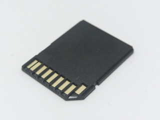 Black SD computer card