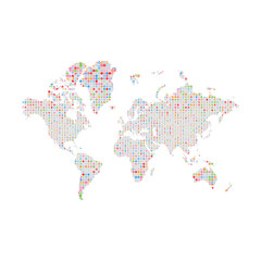 Similar Silhouette of World Map big Data Pattern