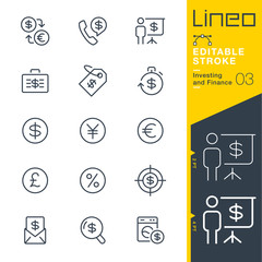 Lineo Editable Stroke - Investing and Finance line icons Vector Icons - Adjust stroke weight - Expand to any size - Change to any colour