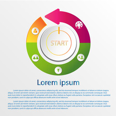 Set of infographic design vector with steps for success.