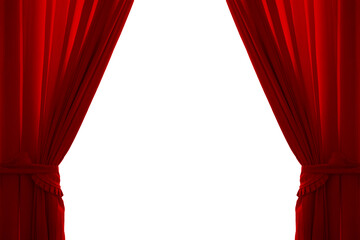 Isolated red curtain