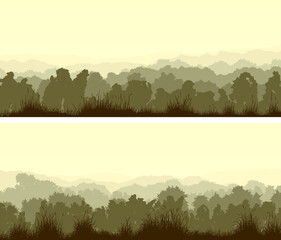 Horizontal wide banners of deciduous wood.