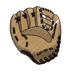 Baseball leather glove icon vector illustration graphic design