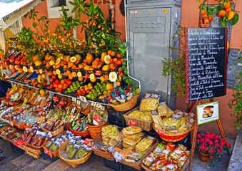 Typical products of Sicily Taormina, Italy Wall mural