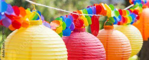 Decoration Of Chinese Lanterns Stockfotos Und Lizenzfreie Bilder