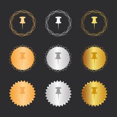 Pinnwand  Pin - Bronze, Silber, Gold Medaillen