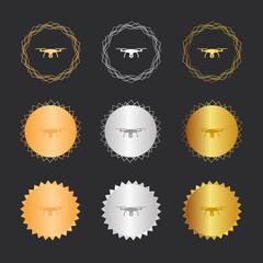 Drohne mit Kamera - Bronze, Silber, Gold Medaillen