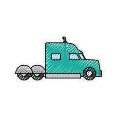 Cargo truck vehicle icon vector illustration graphic design