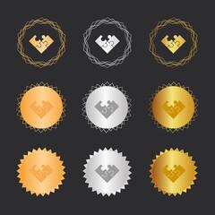 Puzzle unvollständig - Bronze, Silber, Gold Medaillen