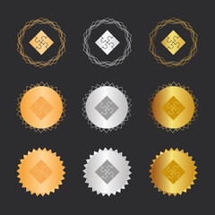 Puzzle - Bronze, Silber, Gold Medaillen