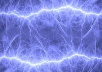 <Multiple Values>Blue fractal lightning, abstract plasma background