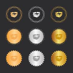 Karton - Bronze, Silber, Gold Medaillen