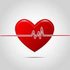 Heart cardiogram - vector illustration