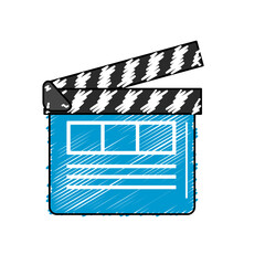clapperboard to short film projection studio