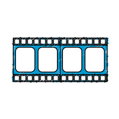 filmstrip to studio scene in projection