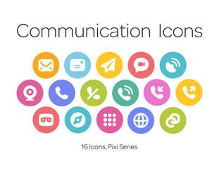 Communication Icons, Pixi Series