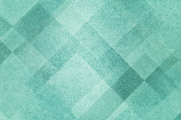 pretty abstract pastel mint green background with diamond squares and triangle shapes layered in classy artsy pattern, cool dark and light colors and linen style texture material design