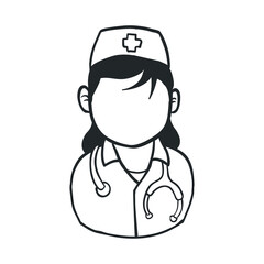 Nurse avatar profile vector illustration icon graphic design
