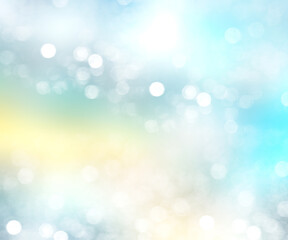 Blue abstract blurred bokeh background illustration.