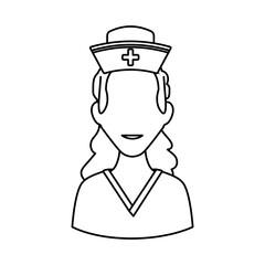 Nurse avatar profile vector illustration icon graphic design
