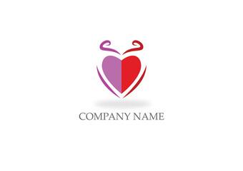 love heart valentine company logo