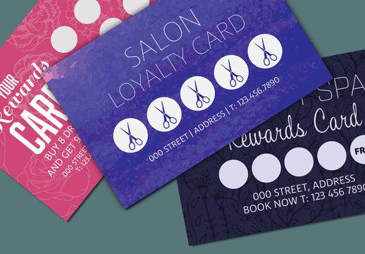 Three Loyalty Card Layouts 2