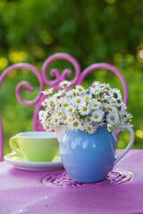 Kaffepause im Garten