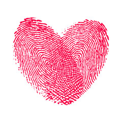 double fingerprint heart love icon