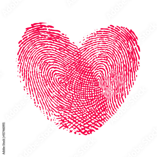 """""""double fingerprint heart love icon"""" Stockfotos und ..."""
