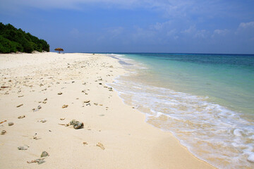 Beautiful beach on Ukulhas at Maldives