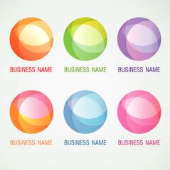 Logo and Symbol design Circle ball color concept, modern minimal, vector illustration