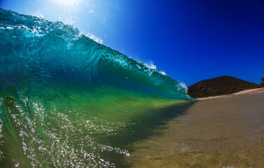 Big bright beautiful ocean wave