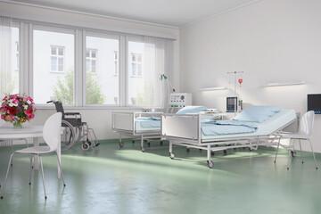 Krankenzimmer - Krankenhaus - Altenheim - Altenpflegeheim - Seniorenheim