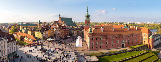 Panoramic view of Warsaw