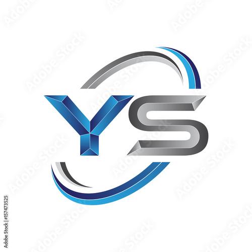 Simple initial letter logo modern swoosh YS