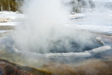 Hot Spring, Winter, Yellowstone NP