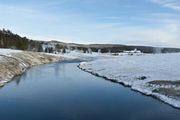 Firehole River, Winter, Upper Geyser Basin, Yellowstone NP