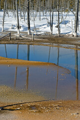 Opalescent Pool, Winter, Yellowstone NP