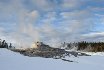 Castle Geyser, Winter, Yellowstone NP