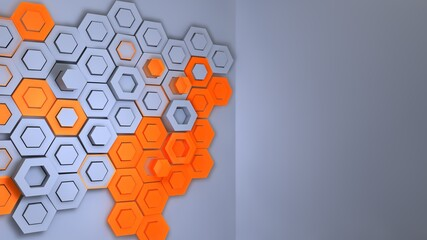 Creative background of rhombic tiles