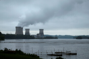The Three Mile Island Nuclear power plant is pictured from Royalton