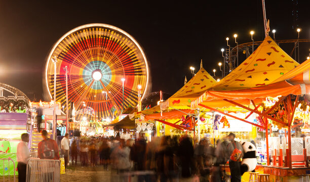 State Fair Carnival Midway Games Rides Ferris Wheel