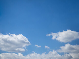 Beautiful sky and white cloud background