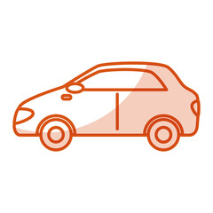 car vehicle sedan icon vector illustration design