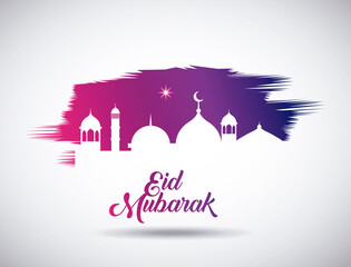 eid mubarak background icon vector illustration design graphic